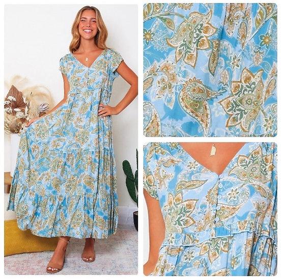 Tracey Cap Sleeve Midi Dress!