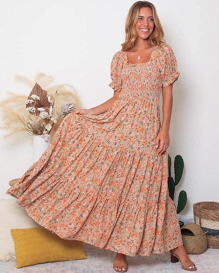 Molly Flounce Sleeve Maxi Dress!