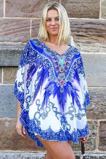 Blue Feather Kaftan!