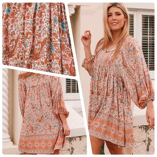 Tiara Long Sleeve Mini Dress!