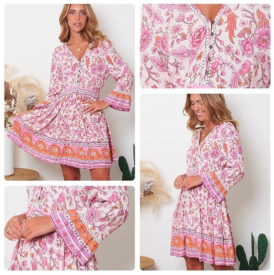 Virginia 3/4 Sleeve Mini Dress!