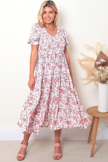 Vera 1/2 Sleeve Midi Dress!