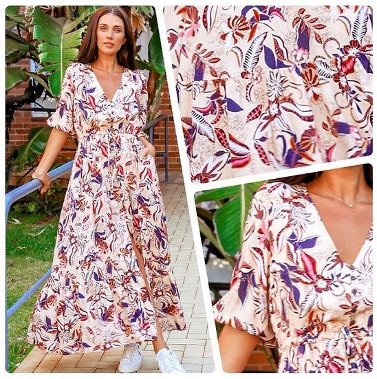 Stephanie 1/2 Sleeve Maxi Dress!