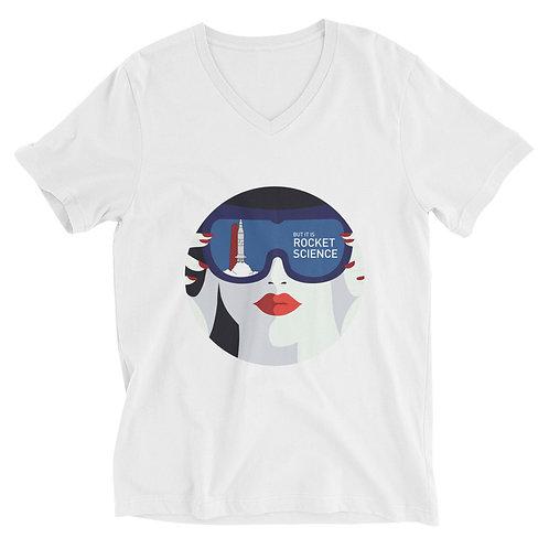 Unisex Short Sleeve V-Neck T-Shirt - White