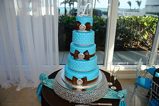 wedding, couple, venue, photography, catering, event planner, bridal bouquet, Rieken Weddings 9548227273, cake, blue