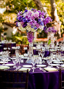 wedding, couple, venue, photography, catering, event planner, bridal bouquet, Rieken Weddings 9548227273, decor, purple flowers, centerpiece