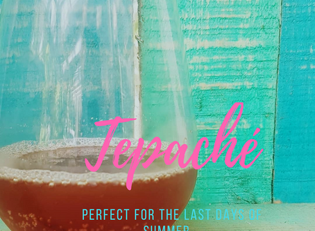 Tepache- a delicious, fermented pineapple drink.