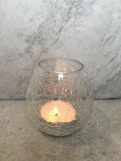 Crinkle Glass Tea Lights for Wedding
