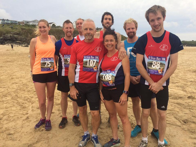 St. Ives Bay 10K...challenging soft sand and dunes