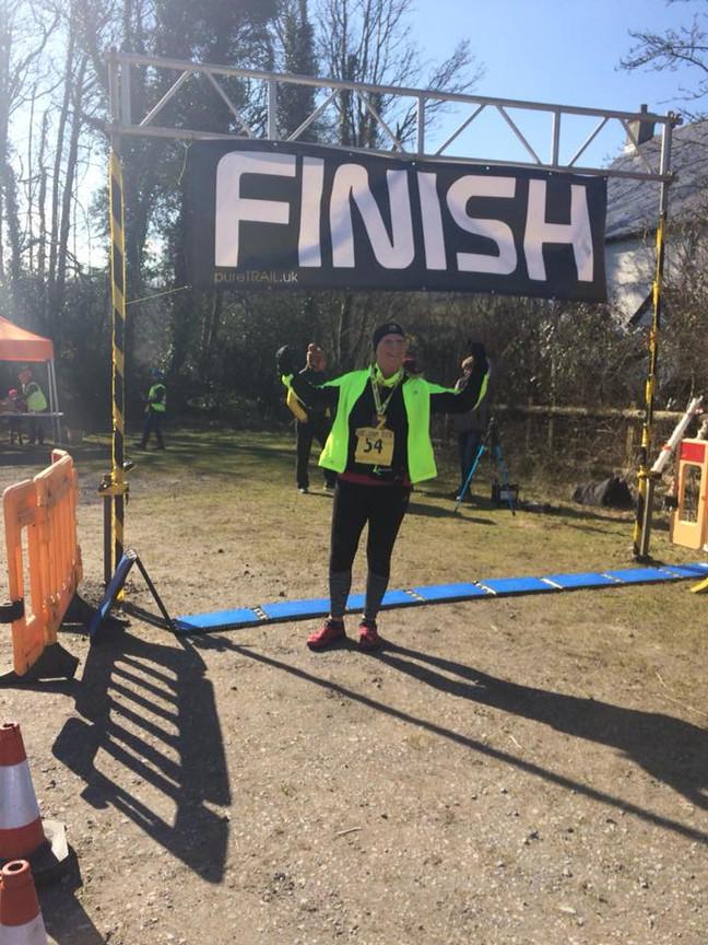 Hameldown Hammer - brutal half marathon across frozen Dartmoor