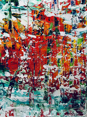 Maria-Victoria Checa Art   Washington, D.C.   Abstract Artwork - Forest Fire in a Snow Storm