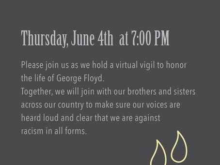 "Watch the ""Lynnfield For Love"" Vigil for George Floyd"