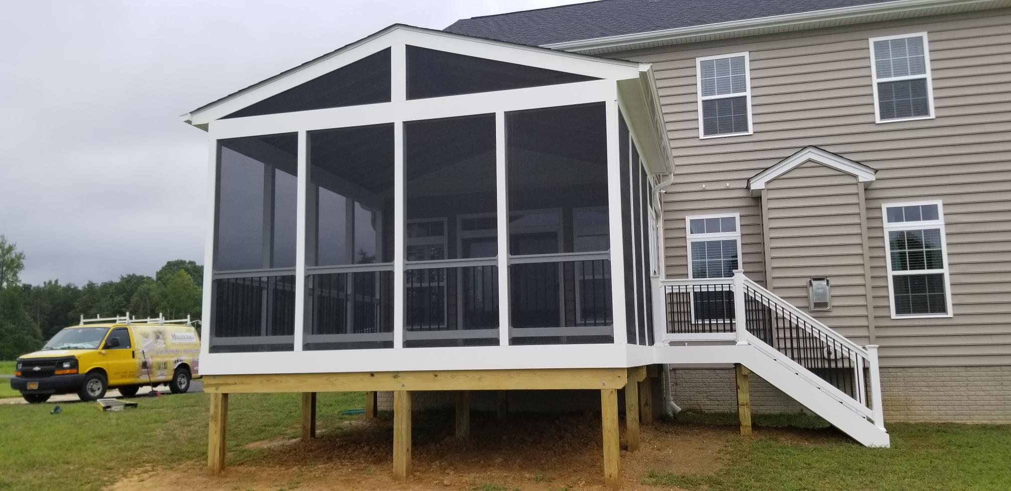 screen porch in charles county maryland.