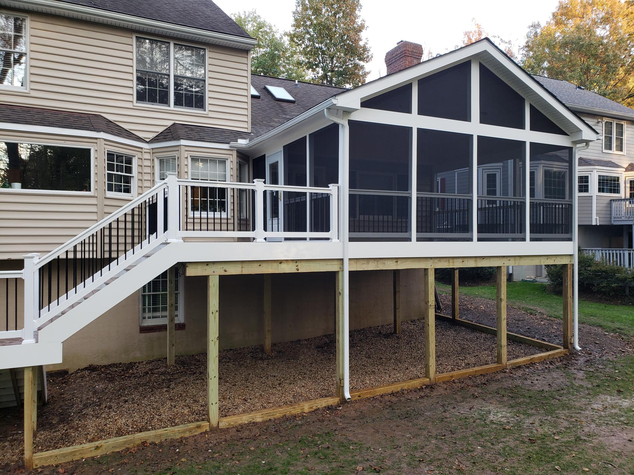 screened in porch by maryland deck build