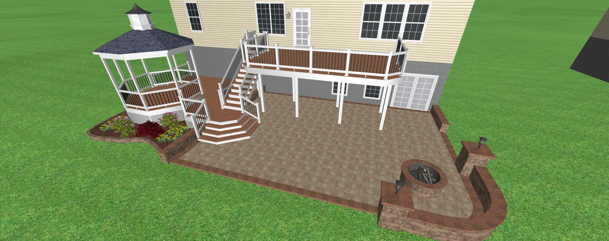 Deck Gazabo with Custom steps
