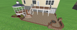 Deck Gazabo with Custom steps