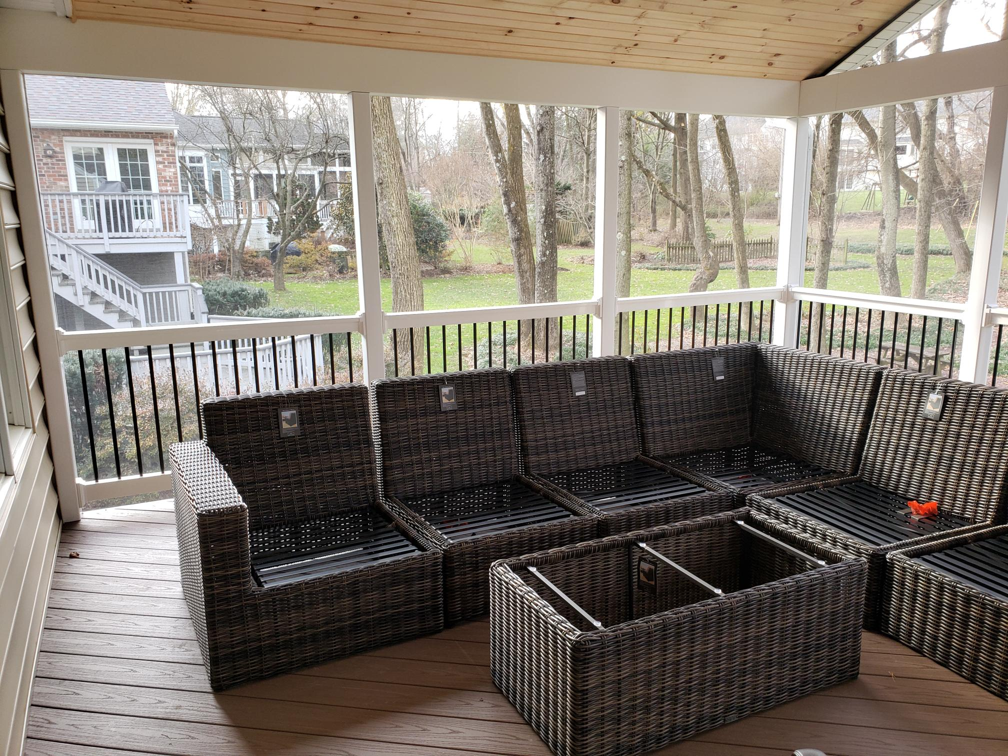 screen porch design in