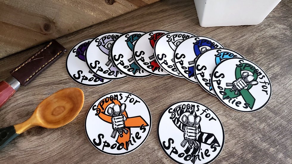 Spoons for Spoonies Awareness Sticker