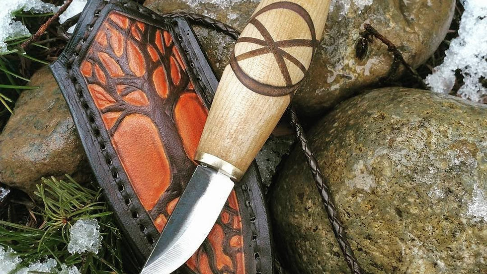 "Handmade Lauri Neck Knife and Sheath, ""The Little Carver"""