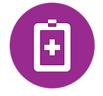 icon of clipboard with cross shape symbolizing heathcare provider resources link