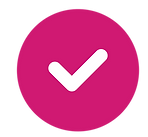 icon of checkmark symbolizing safety and quality
