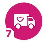 icon of truck with heart shape