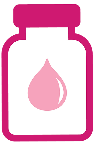 icon of a bottle with a milk drop shape
