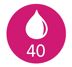 icon of a milk drop with text that says 40 milk drop partners