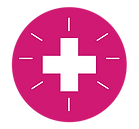 icon symbolizing health with a cross shape