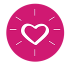 icon symbolizing compassion with a heart shape