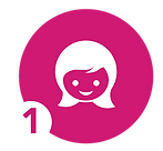 icon of a smiling woman face symbolizing milk donors