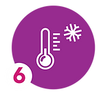 icon of thermometer with snowflake