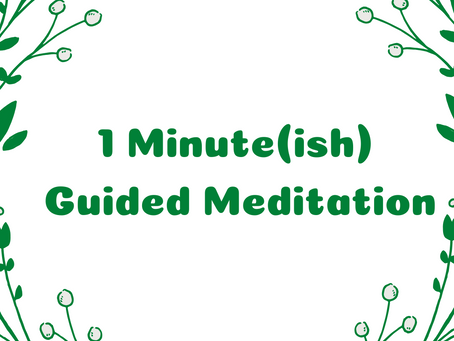 1 Minute(ish) Guided Meditation