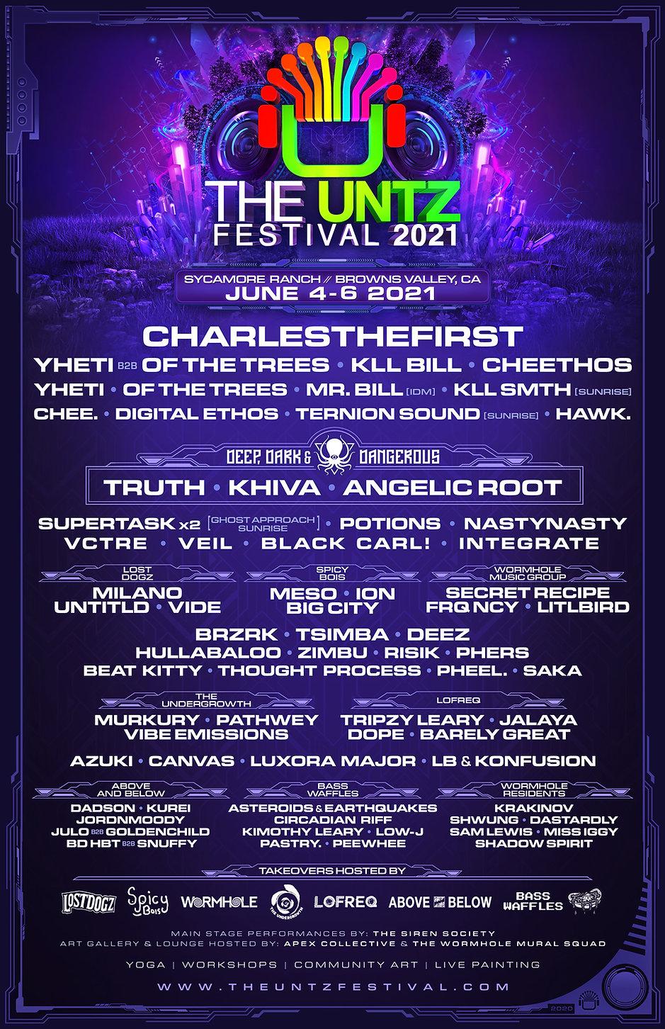 The Untz Festival 2021 Lineup