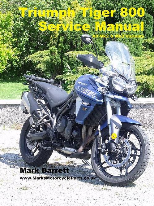 Service Manual For Triumph Tiger 800 Mk2 & Mk3