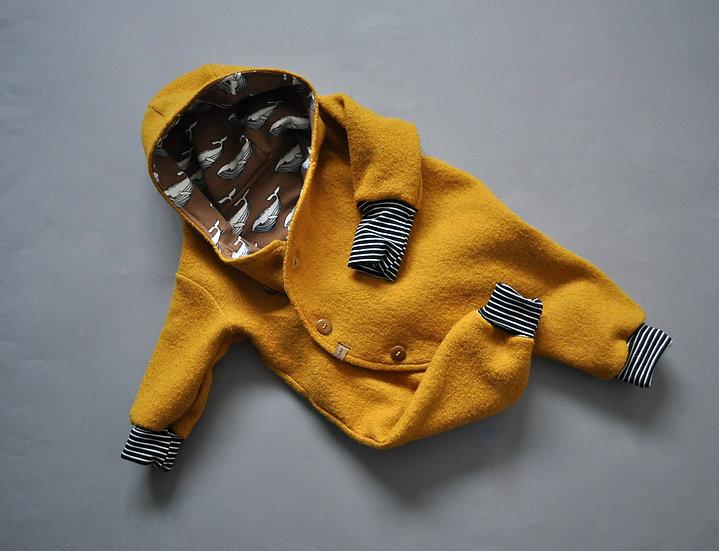 "Baby-Winter-Overall aus Wollwalk ""senfgelb"""
