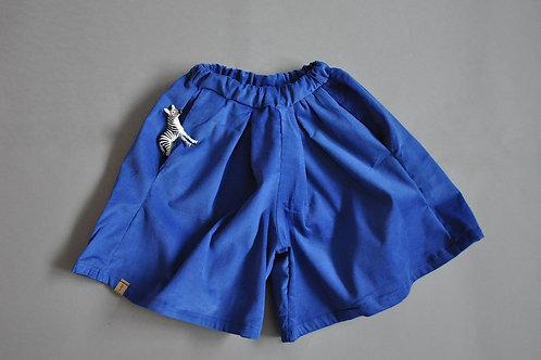 """Culottes aus Feincord """"blau"""""""