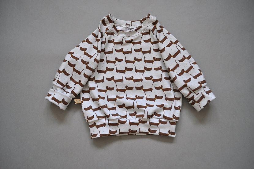 """Raglan-Shirt aus Bio-Jersey """"dackel"""""""