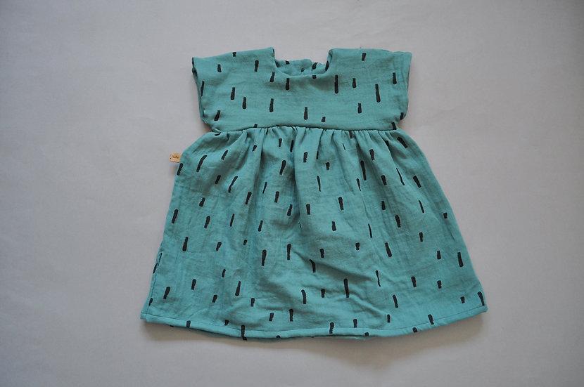 "Sommerkleid aus Bio-Musselin ""swipes"""
