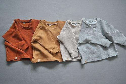 """oversized Shirt aus Rib-Jersey """"6 verschd. Farben"""""""
