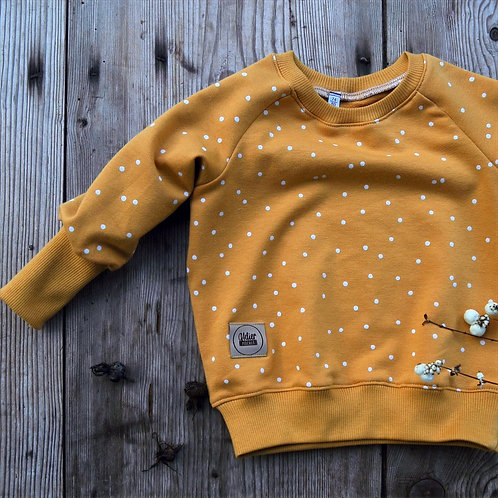 """Raglan-Sweatshirt """"Dotties senfgelb"""""""
