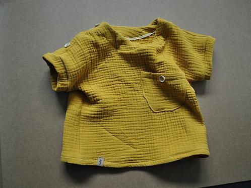 "Kurzarmshirt aus Bio-Musselin ""senf"""
