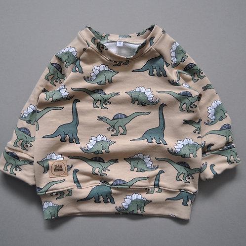 """Raglan-Sweatshirt """"creme Dinos"""""""