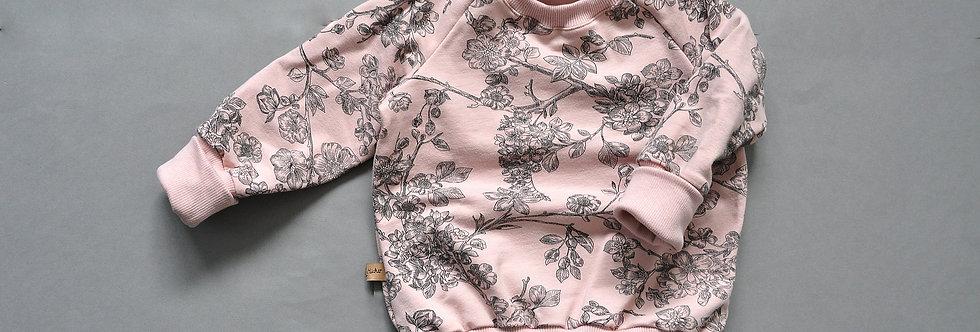"""Raglan-Sweatshirt mit oder ohne Kapuze """"cherry blossom"""""""