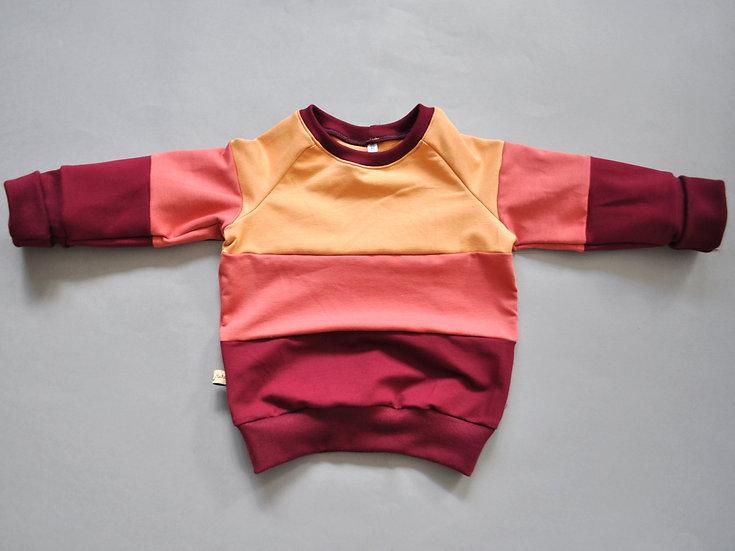 """Colorblocked-Sweatshirt """"warme Töne"""""""