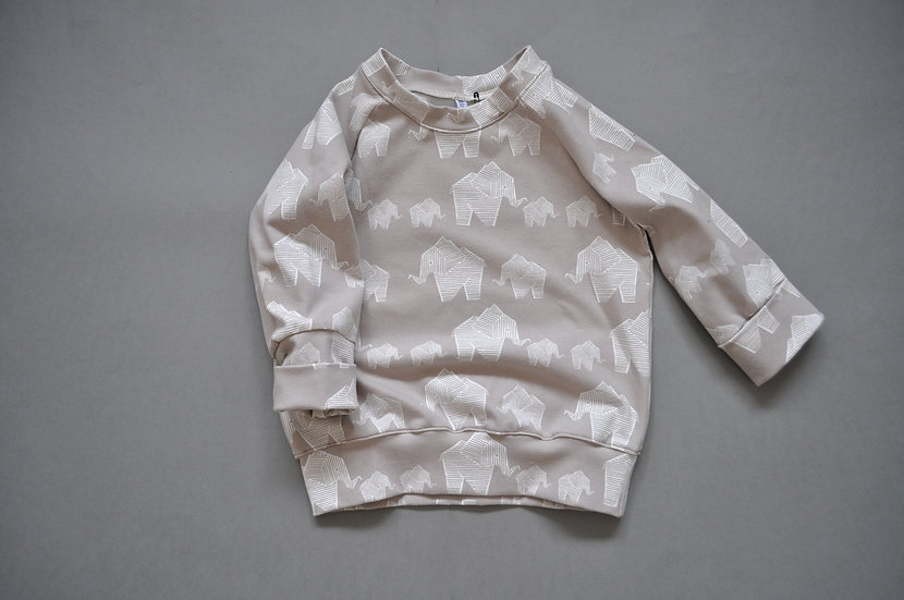 "Raglan-Shirt aus Bio-Jersey ""elefanten"""
