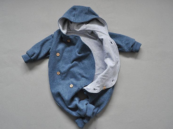 "Baby-Overall aus Bio-Fleece ""staubblau"""