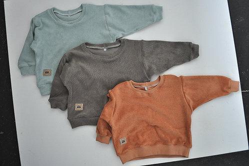 """oversized Bio-Frottee-Shirt """"verschd. Farben"""""""