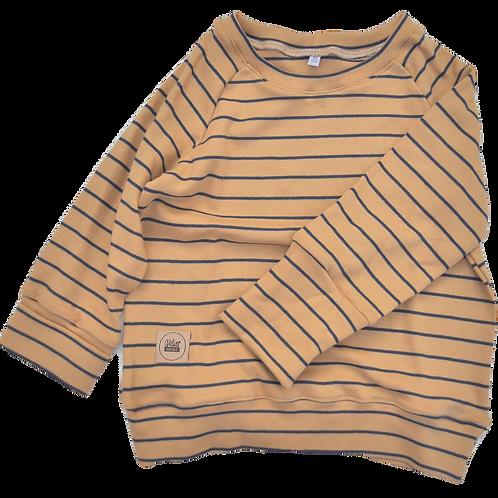 "Shirt aus Bio-Interlockjersey ""Ringel creme/navy"""