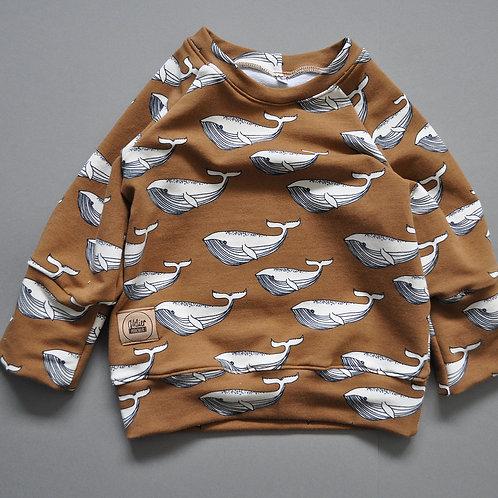 "Raglan-Sweatshirt ""nutmeg Whales"""